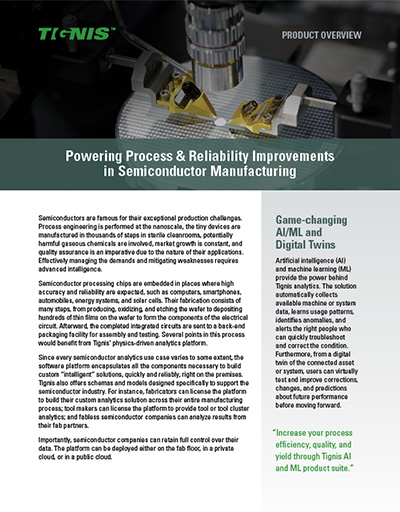 Powering Process & Reliability Improvements in Semiconductor Manufacturing